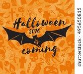 halloween 2016 is coming.... | Shutterstock .eps vector #495650815