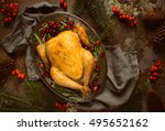 christmas traditional dish ... | Shutterstock . vector #495652162