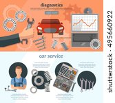 car service infographics... | Shutterstock .eps vector #495660922