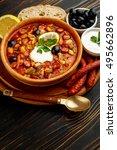 solyanka   russian traditional... | Shutterstock . vector #495662896