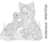 Stylized Cute Friends Cat ...