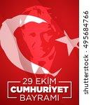october 29 republic day   Shutterstock .eps vector #495684766
