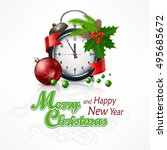 new year click on white with... | Shutterstock .eps vector #495685672