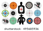 big set of targets isolated... | Shutterstock .eps vector #495685936