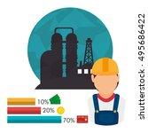 petroleum and oil design | Shutterstock .eps vector #495686422