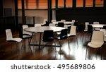 modern cafeteria closeup | Shutterstock . vector #495689806