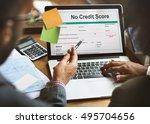 no credit score debt deny... | Shutterstock . vector #495704656