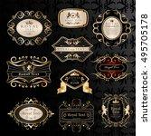 golden labels set   isolated on ... | Shutterstock .eps vector #495705178