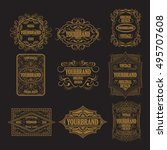 set of antique labels  vintage... | Shutterstock .eps vector #495707608