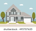the flat picture with the... | Shutterstock .eps vector #495707635