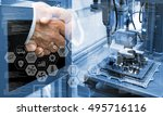 industry4.0 concept .two... | Shutterstock . vector #495716116