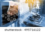industry4.0 concept .two... | Shutterstock . vector #495716122