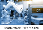 industry4.0 concept .industry... | Shutterstock . vector #495716128