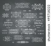 calligraphic design elements.... | Shutterstock .eps vector #495718222