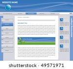 vector web site design template ... | Shutterstock .eps vector #49571971