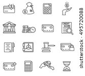 credit  icons set. loan... | Shutterstock .eps vector #495720088