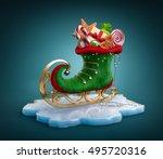 magical elf skate full of... | Shutterstock . vector #495720316