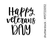 happy veterans day. black...   Shutterstock .eps vector #495723352