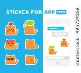 sticker for app. mobile...