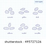 collection of different hand... | Shutterstock .eps vector #495727126