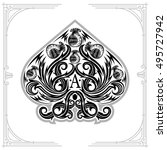 ace of spades from thistle... | Shutterstock .eps vector #495727942