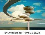 future architecture. modern...   Shutterstock . vector #495731626