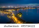 aerial view of hanoi skyline... | Shutterstock . vector #495734122