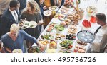 food catering cuisine culinary... | Shutterstock . vector #495736726