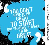 motivation concept  ...   Shutterstock .eps vector #495737146