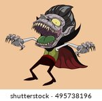 dracula vector and illustration.... | Shutterstock .eps vector #495738196