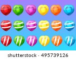 candy items for match 3 game | Shutterstock .eps vector #495739126