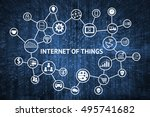 internet of things  iot  ... | Shutterstock . vector #495741682