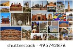 india collage | Shutterstock . vector #495742876