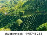 looking down on a landscape of...   Shutterstock . vector #495745255