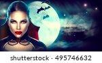 Halloween Background  Vampire...