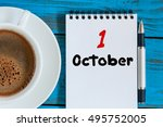 october 1st. day 1 of month.... | Shutterstock . vector #495752005
