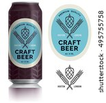 beer label vector visual on... | Shutterstock .eps vector #495755758