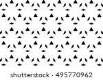 black and white ornament. t  | Shutterstock . vector #495770962