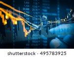 double exposure businessman and ... | Shutterstock . vector #495783925