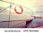 Lifebuoy On The Yacht At Summe...