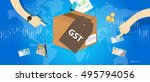 gst good and services tax  | Shutterstock .eps vector #495794056