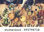 food catering cuisine culinary... | Shutterstock . vector #495798718