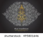 thai art element traditional of ... | Shutterstock .eps vector #495801646