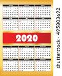 calender 2020 in vector can be... | Shutterstock .eps vector #495803692