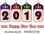happy new year. 2019 year... | Shutterstock .eps vector #495803746