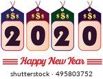 happy new year. 2020 year... | Shutterstock .eps vector #495803752