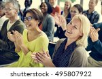 audience applaud clapping... | Shutterstock . vector #495807922