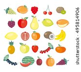 twenty five icons of fresh... | Shutterstock .eps vector #495814906