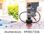 traditional arabic shisha pipes ... | Shutterstock . vector #495817336