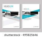 annual report brochure flyer... | Shutterstock .eps vector #495825646